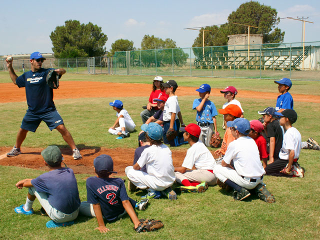 Gezer Camp pitching clinic with Alon L 2