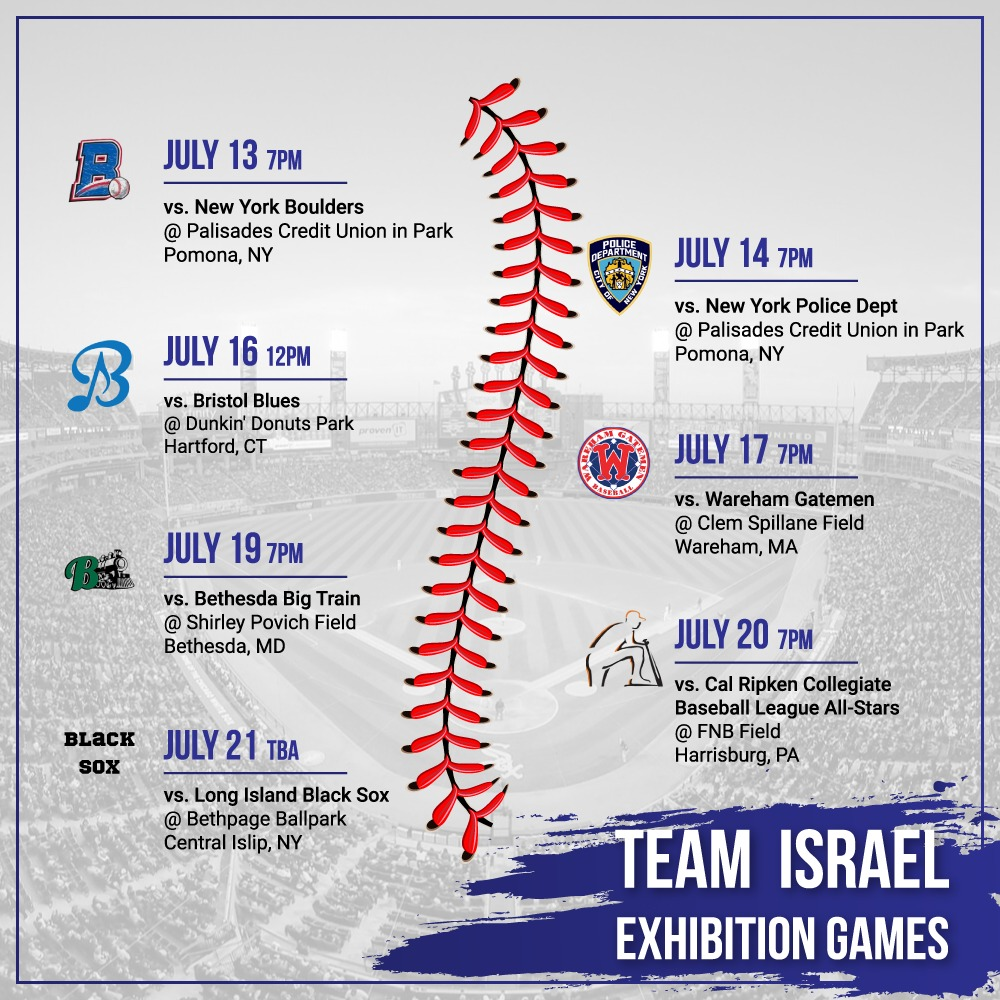 Team Israel Exhibition Games